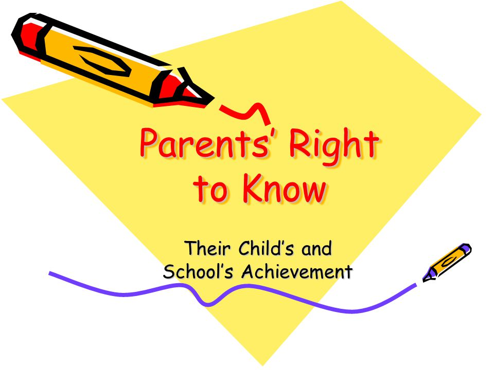 Parents Right to Know Title I